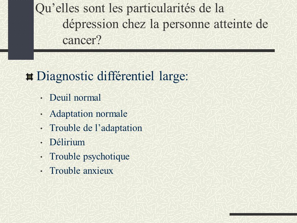 Diagnostic différentiel large: