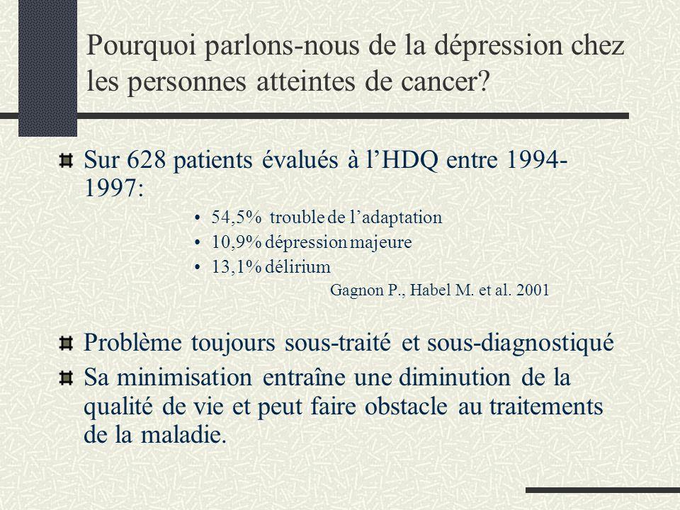 Pourquoi parlons-nous de la dépression chez les personnes atteintes de cancer