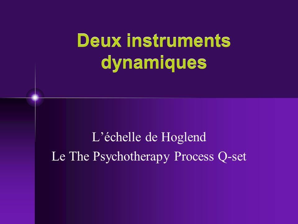 Deux instruments dynamiques