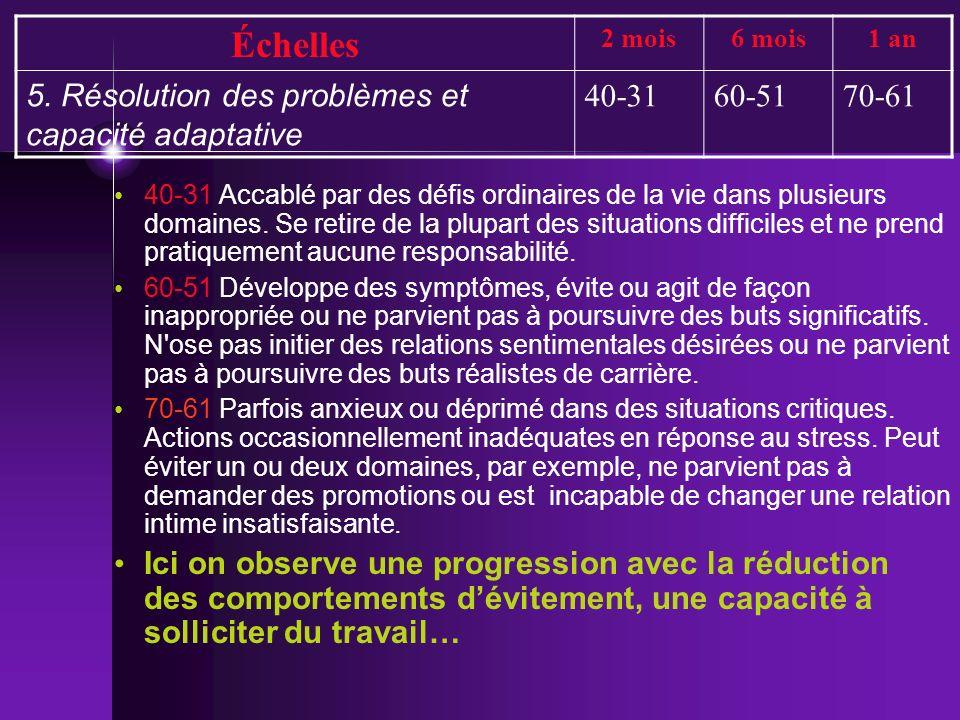 Échelles 5. Résolution des problèmes et capacité adaptative 40-31