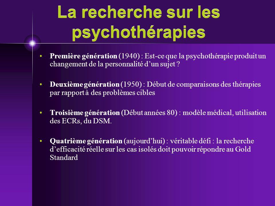 La recherche sur les psychothérapies