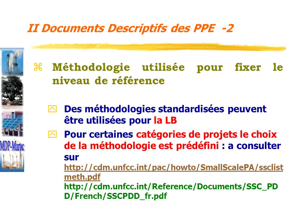 II Documents Descriptifs des PPE -2