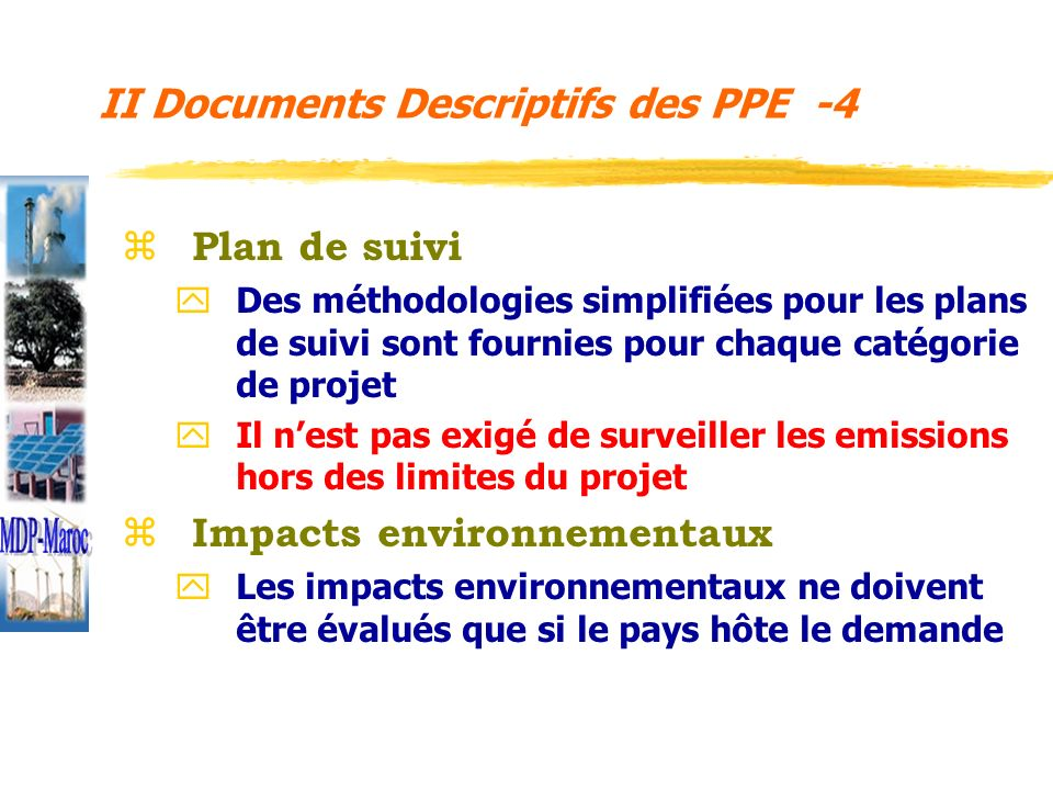 II Documents Descriptifs des PPE -4