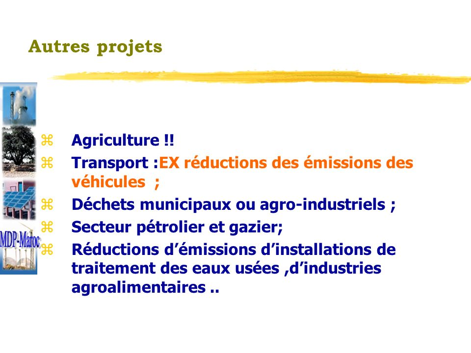 MDP-Maroc Autres projets Agriculture !!