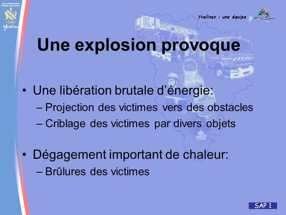 Une explosion provoque