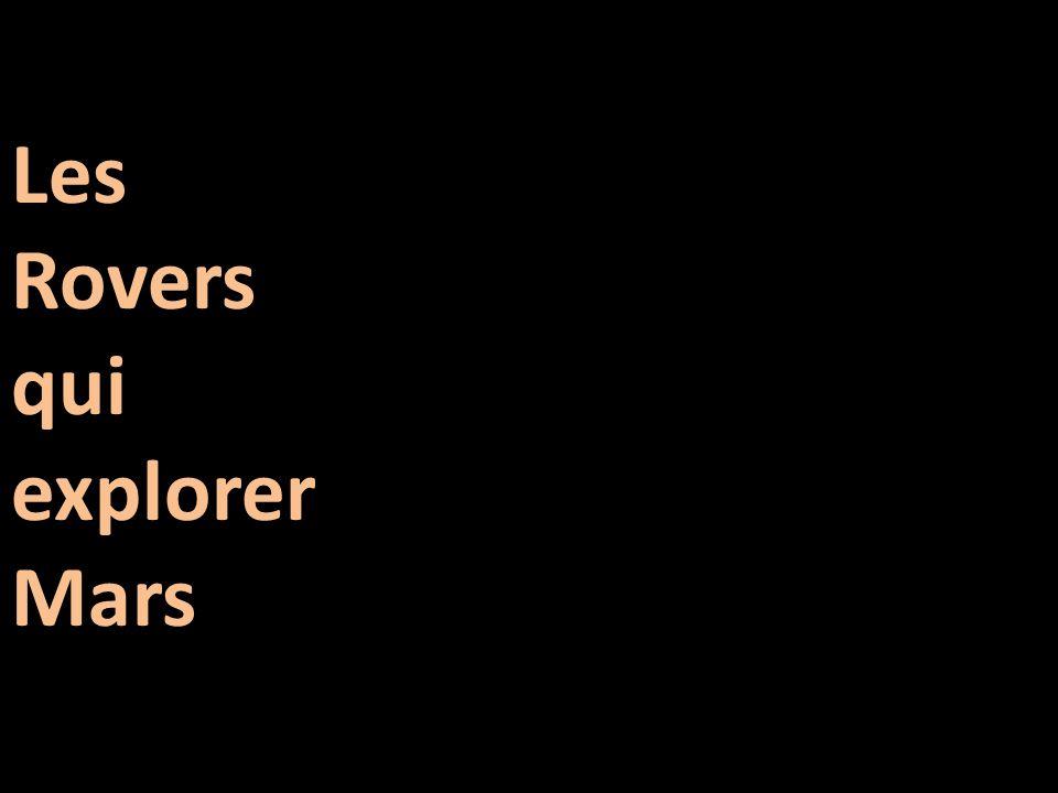Les Rovers qui explorer Mars