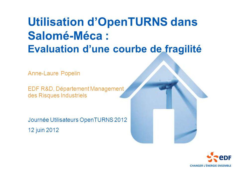 Utilisation d'OpenTURNS dans Salomé-Méca : Evaluation d'une courbe de fragilité
