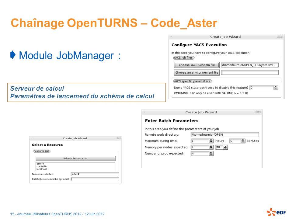 Chaînage OpenTURNS – Code_Aster