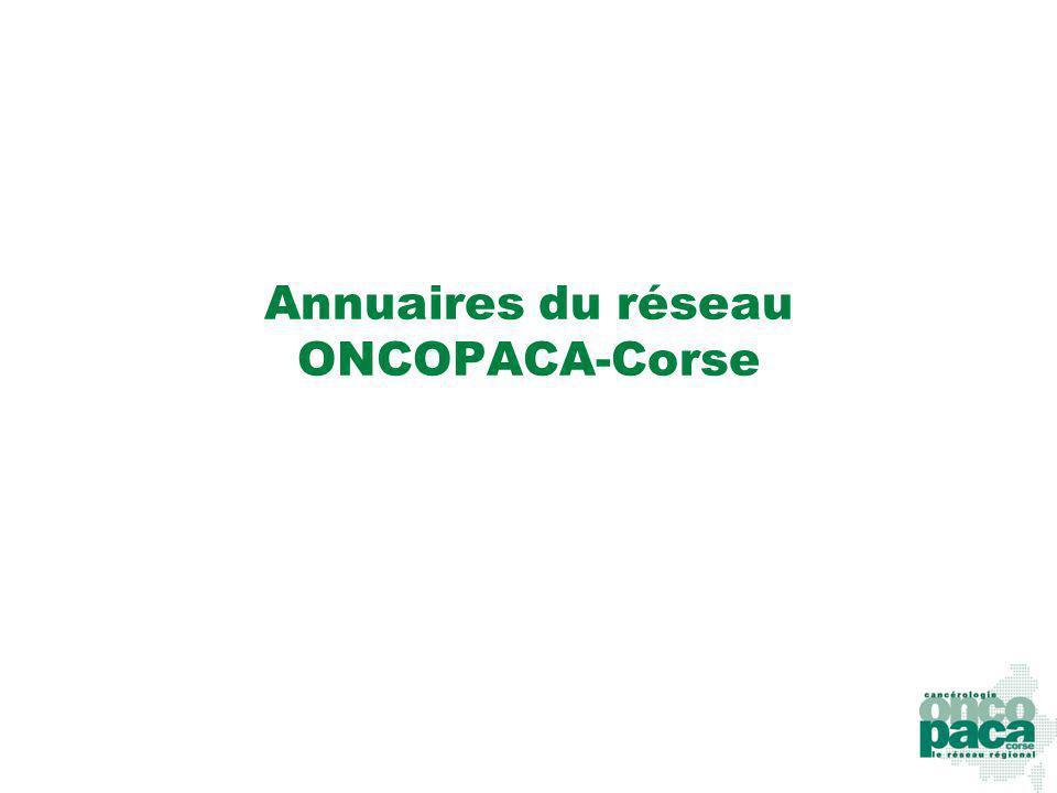 Annuaires du réseau ONCOPACA-Corse