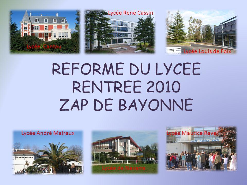 REFORME DU LYCEE RENTREE 2010 ZAP DE BAYONNE