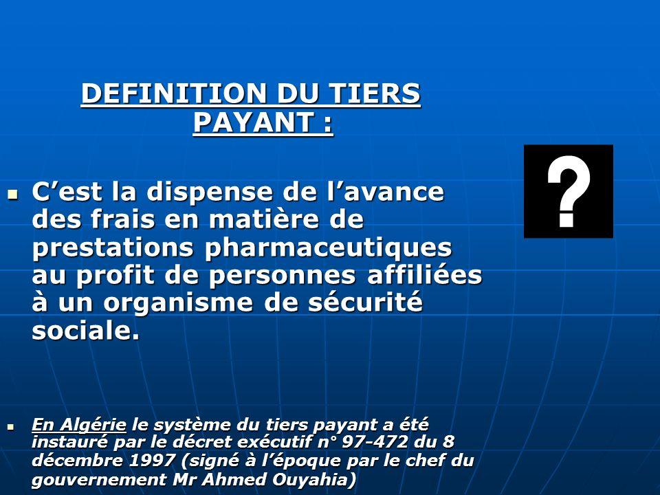 DEFINITION DU TIERS PAYANT :