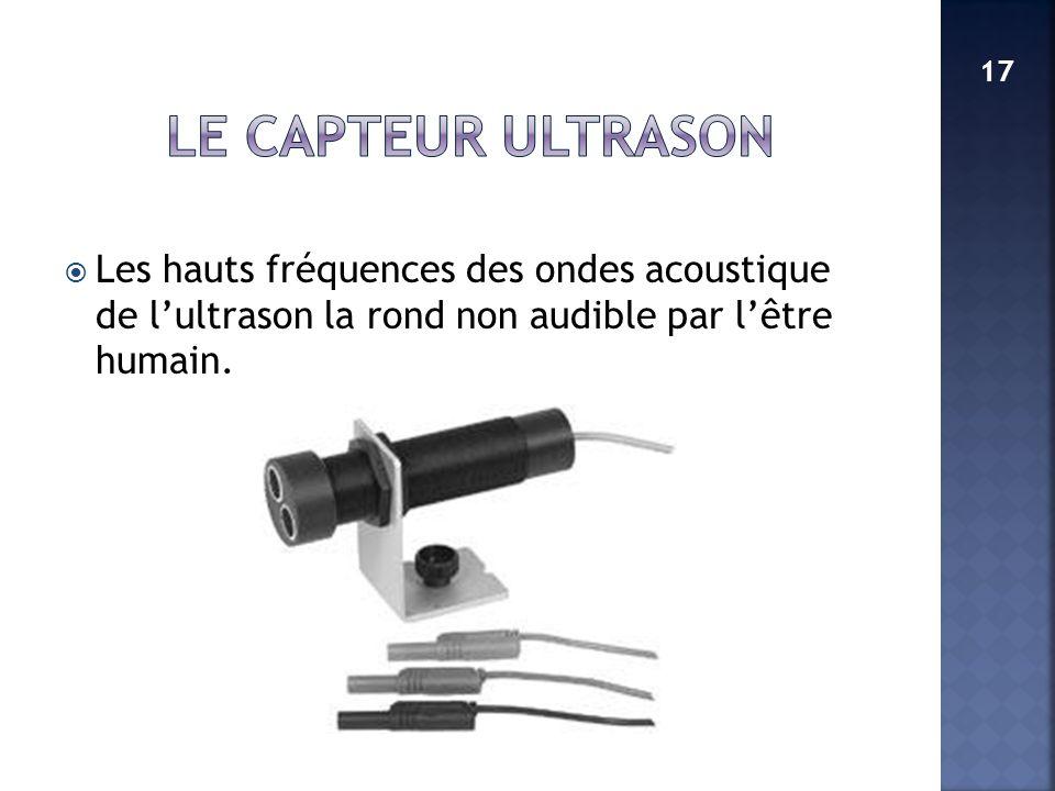 LE CAPTEUR ULTRASON 17.