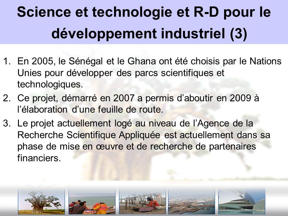 Science et technologie et R-D pour le développement industriel (3)