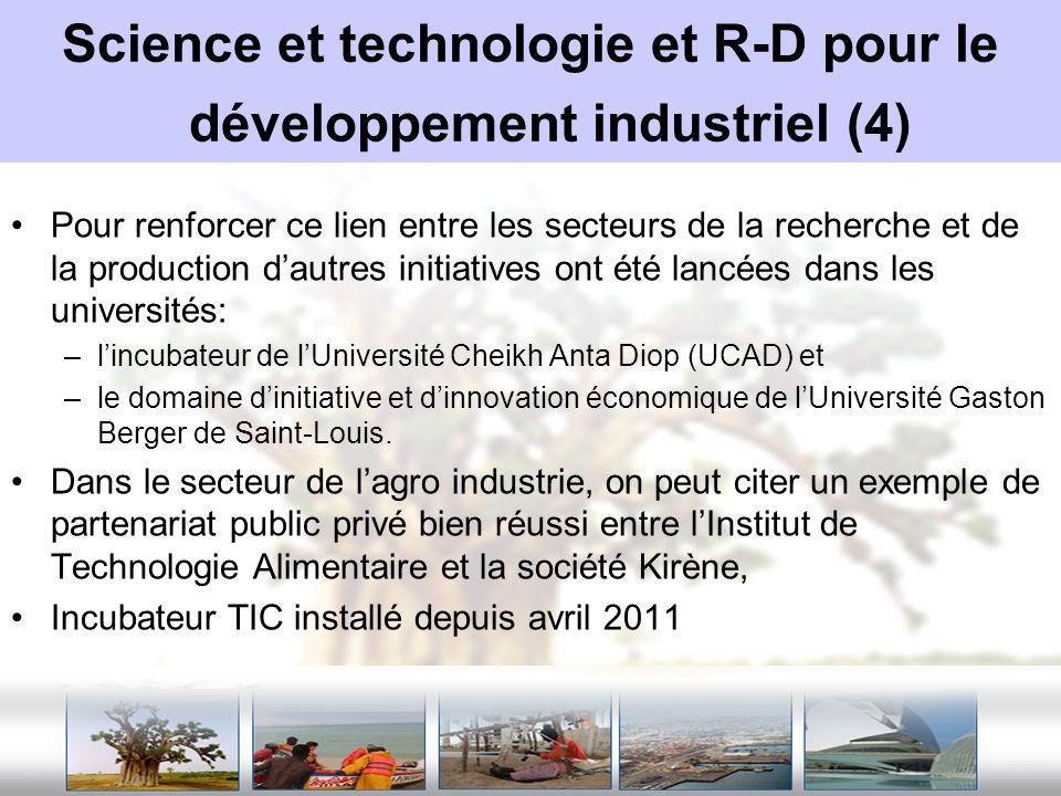 Science et technologie et R-D pour le développement industriel (4)
