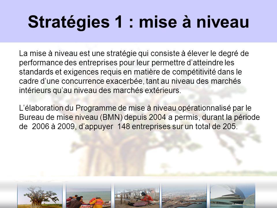 Stratégies 1 : mise à niveau