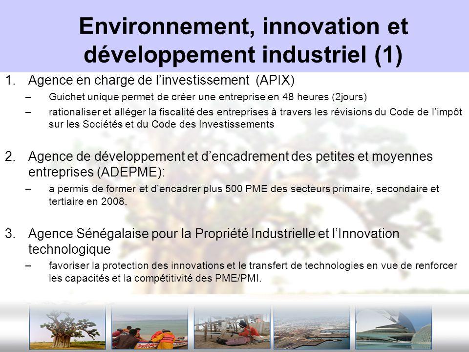 Environnement, innovation et développement industriel (1)