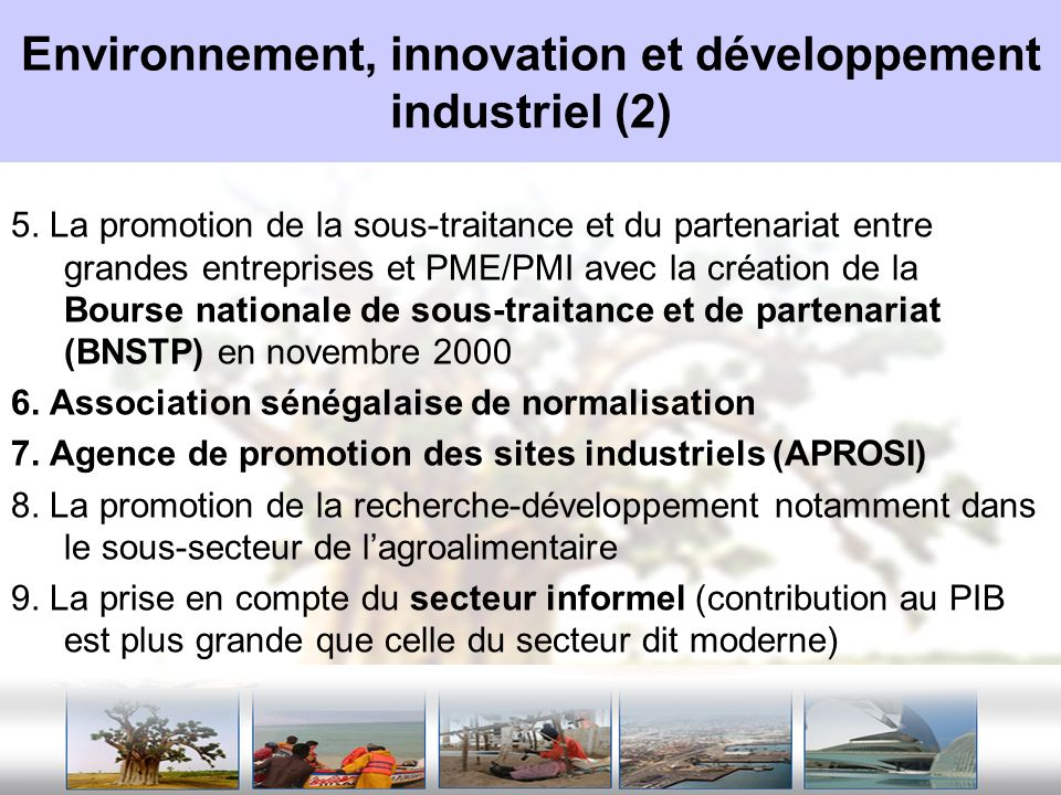 Environnement, innovation et développement industriel (2)