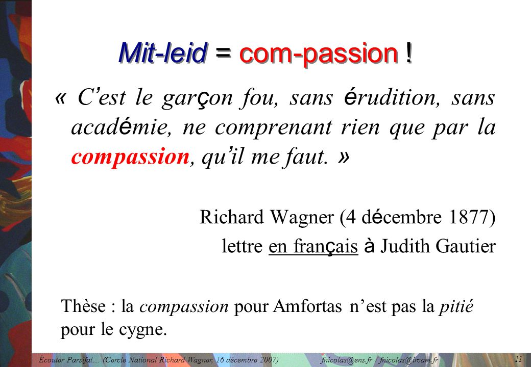 Mit-leid = com-passion !