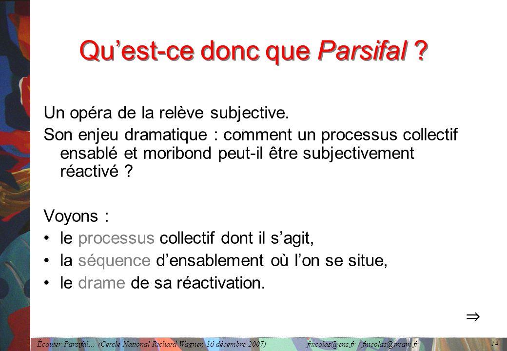 Qu'est-ce donc que Parsifal