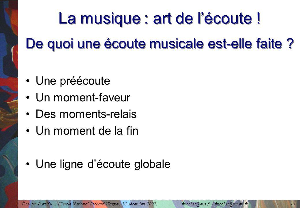 La musique : art de l'écoute