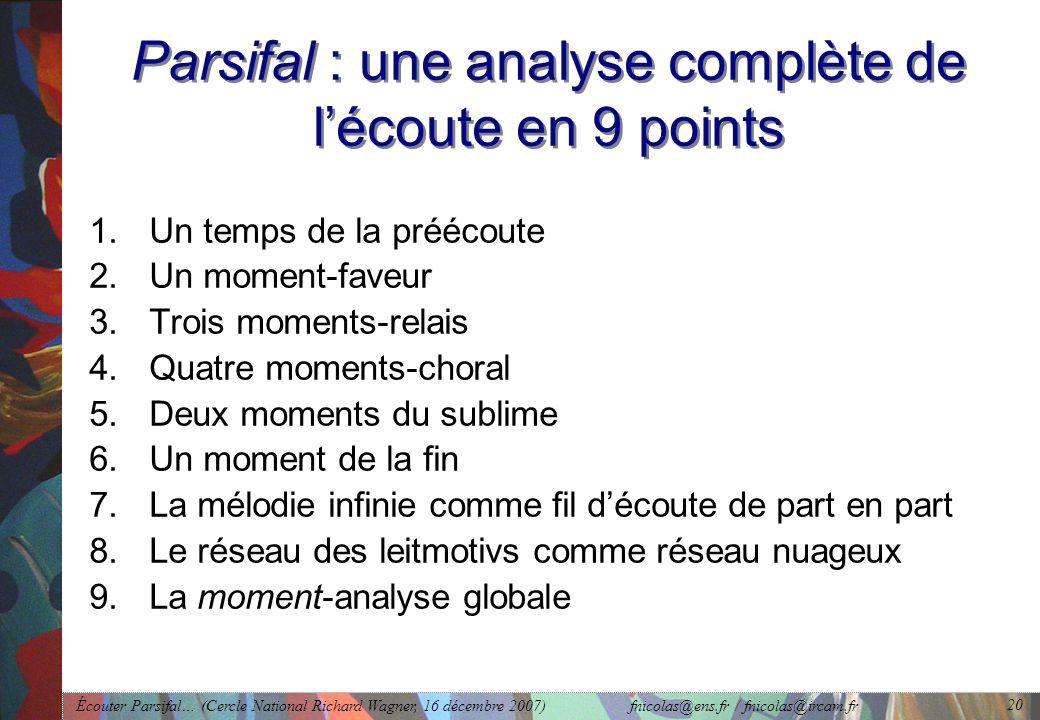 Parsifal : une analyse complète de l'écoute en 9 points