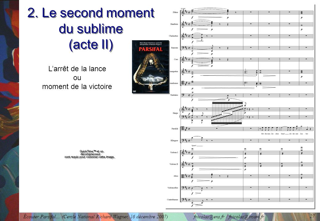 2. Le second moment du sublime (acte II)