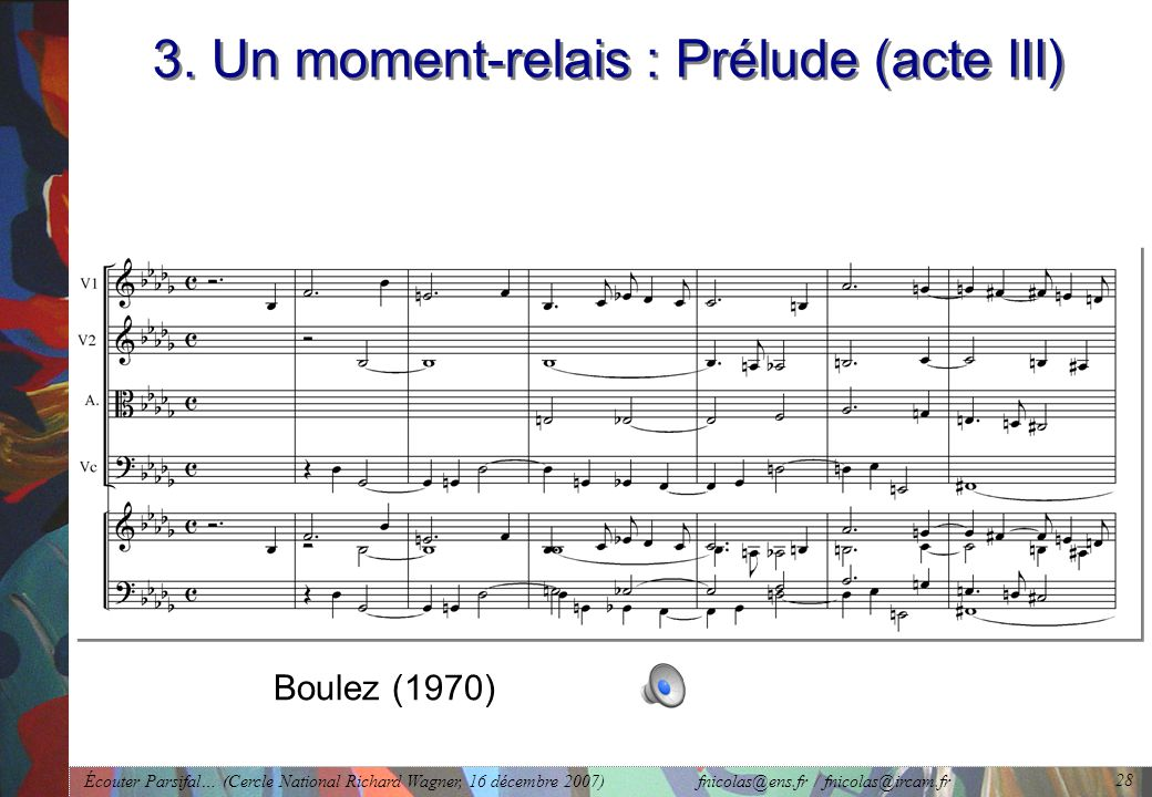 3. Un moment-relais : Prélude (acte III)