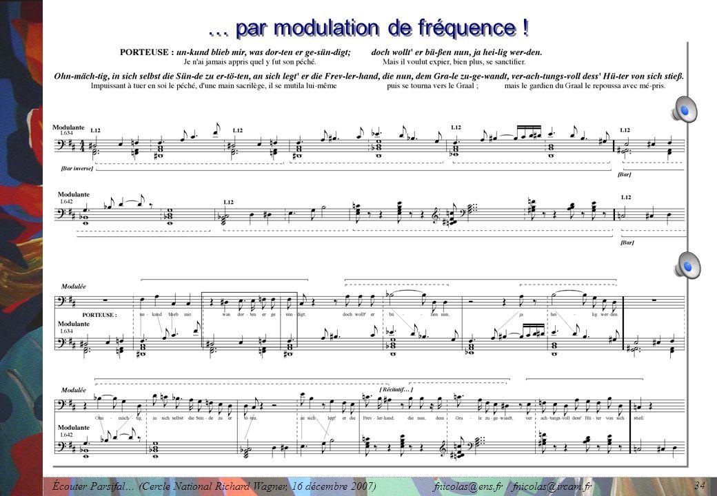 … par modulation de fréquence !