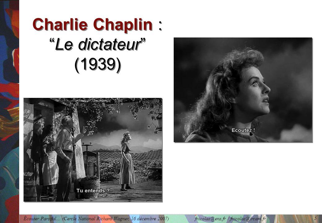 Charlie Chaplin : Le dictateur (1939)