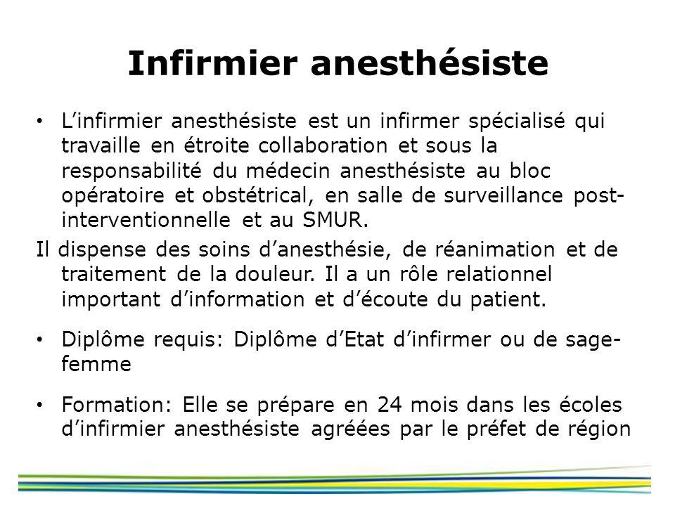 Infirmier anesthésiste