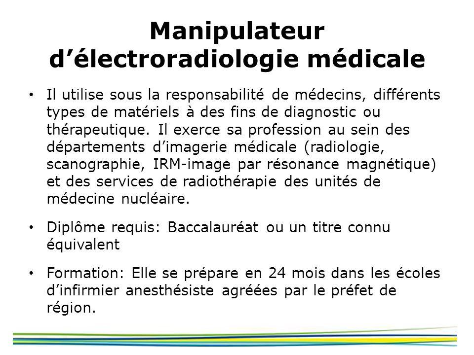Manipulateur d'électroradiologie médicale