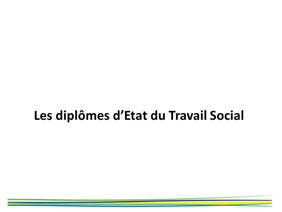 Les diplômes d'Etat du Travail Social
