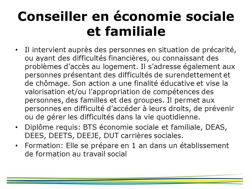 Conseiller en économie sociale et familiale