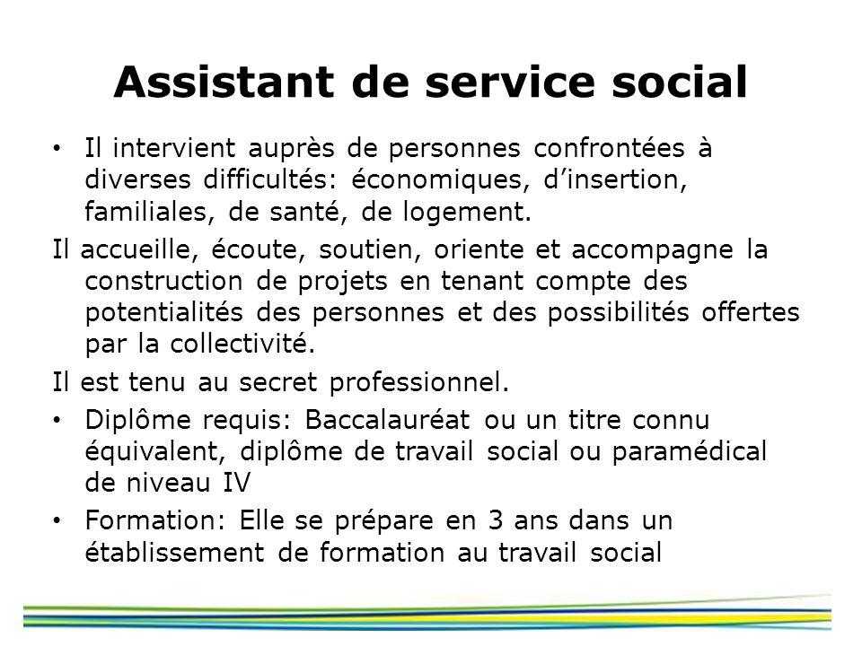 Assistant de service social