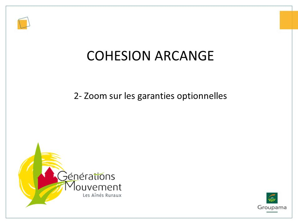 2- Zoom sur les garanties optionnelles