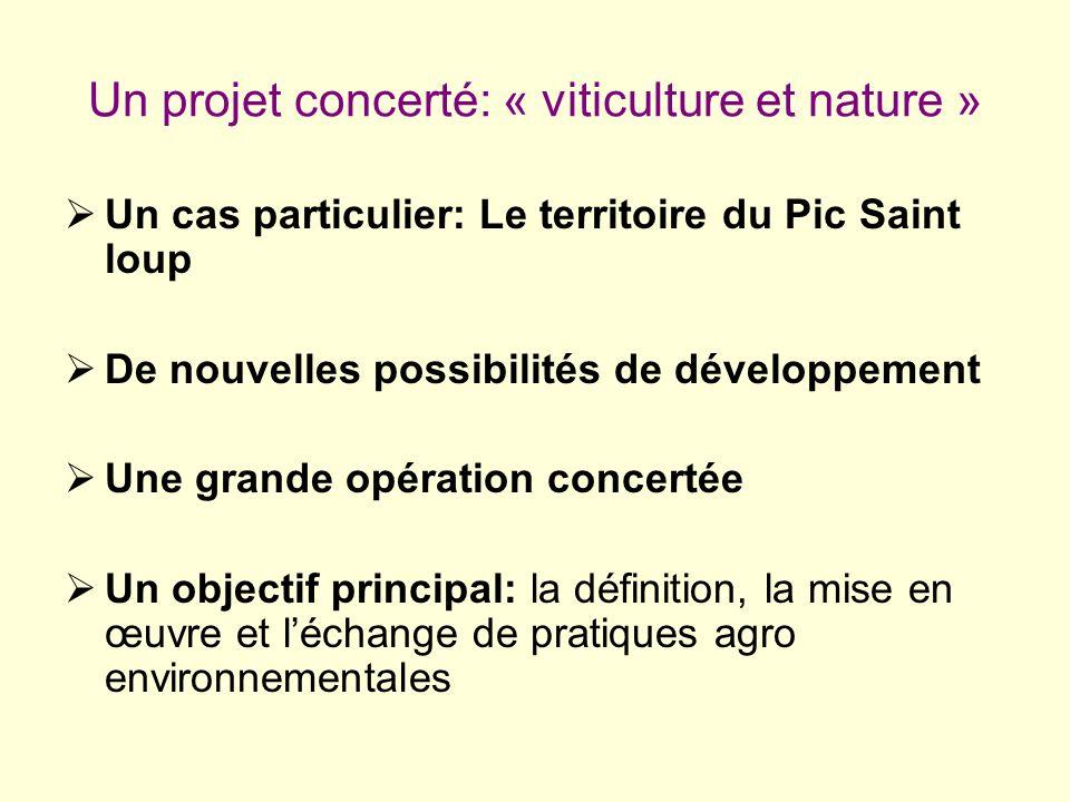 Un projet concerté: « viticulture et nature »