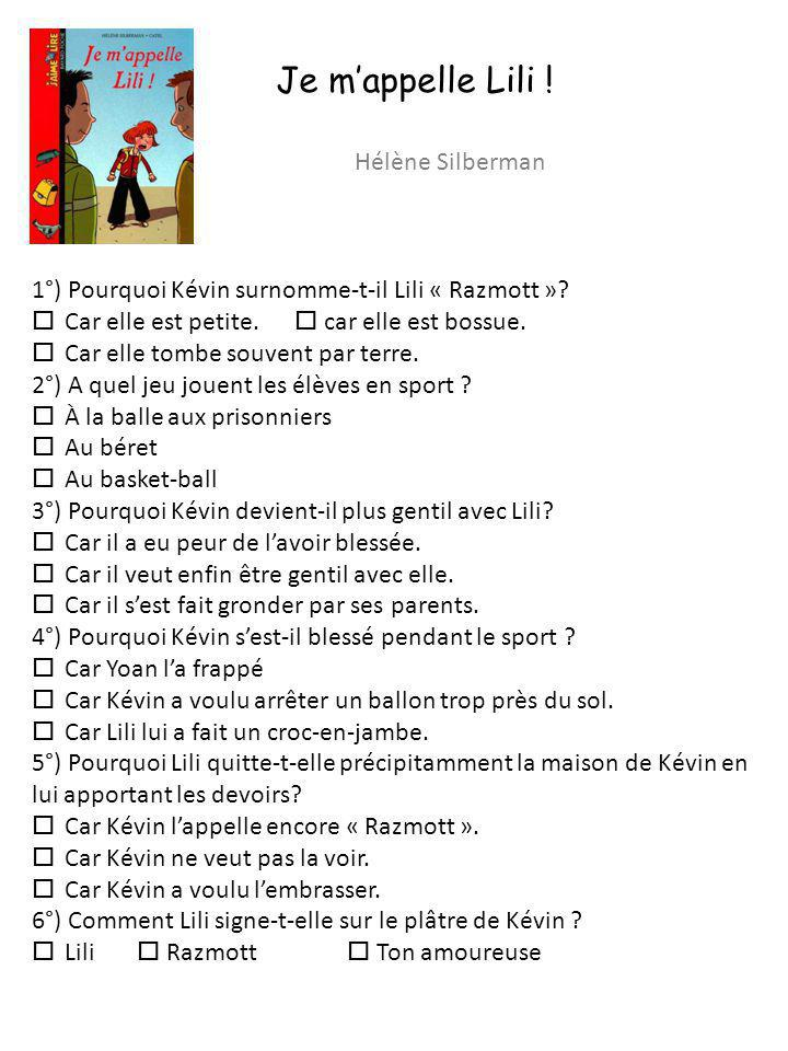 Je m'appelle Lili ! Hélène Silberman
