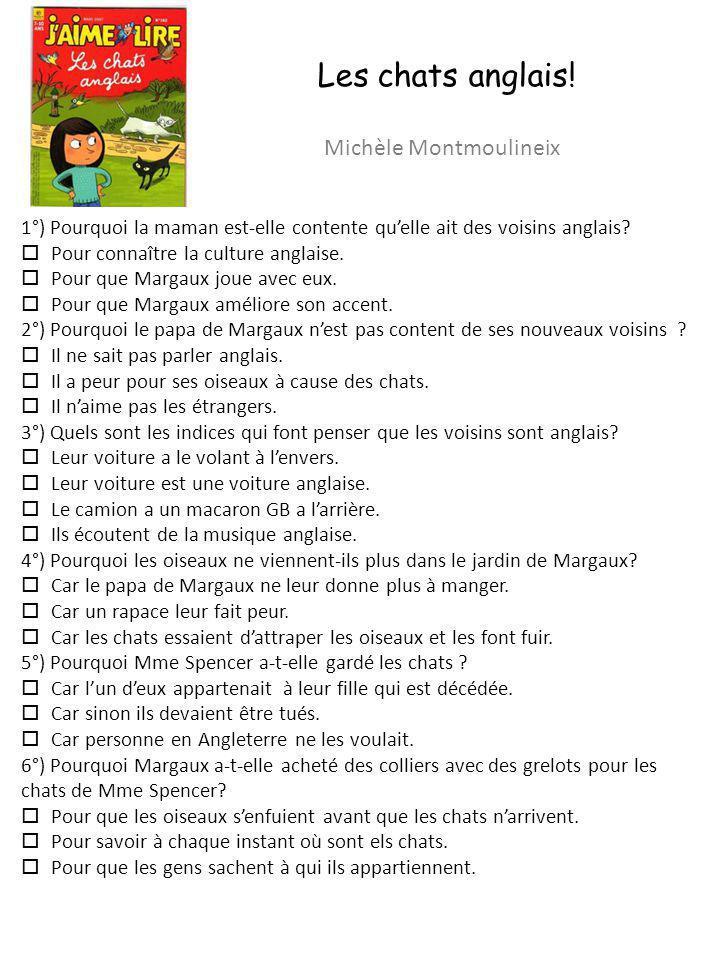 Les chats anglais! Michèle Montmoulineix