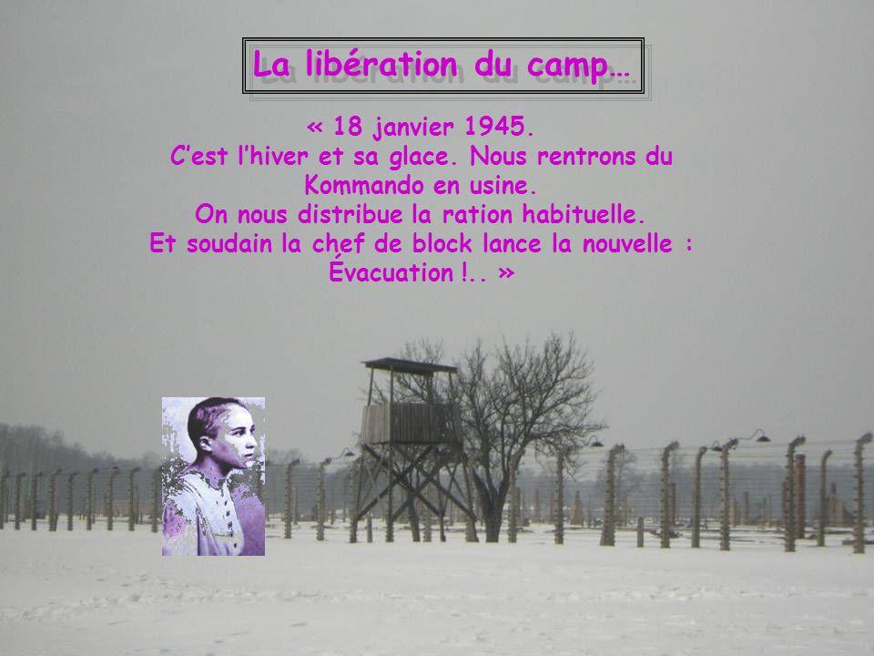La libération du camp… « 18 janvier 1945.