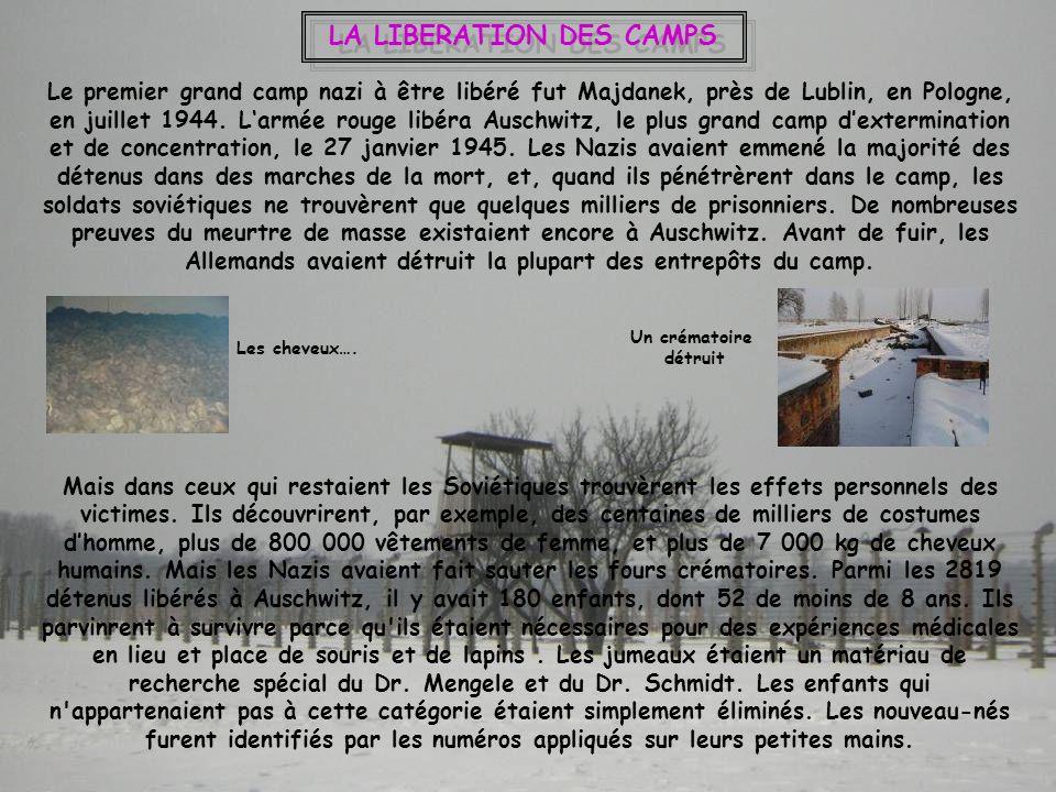 LA LIBERATION DES CAMPS