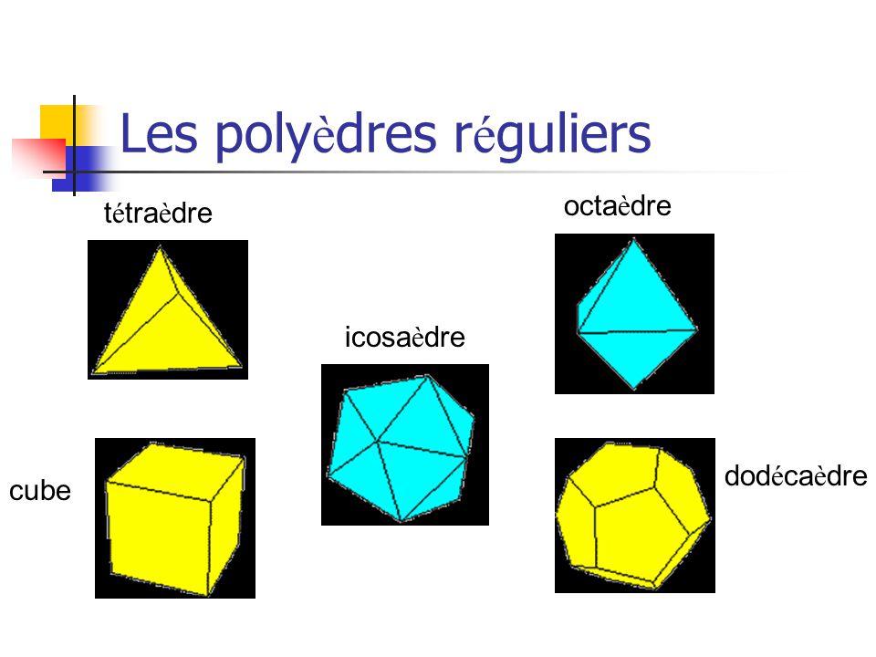 Les polyèdres réguliers