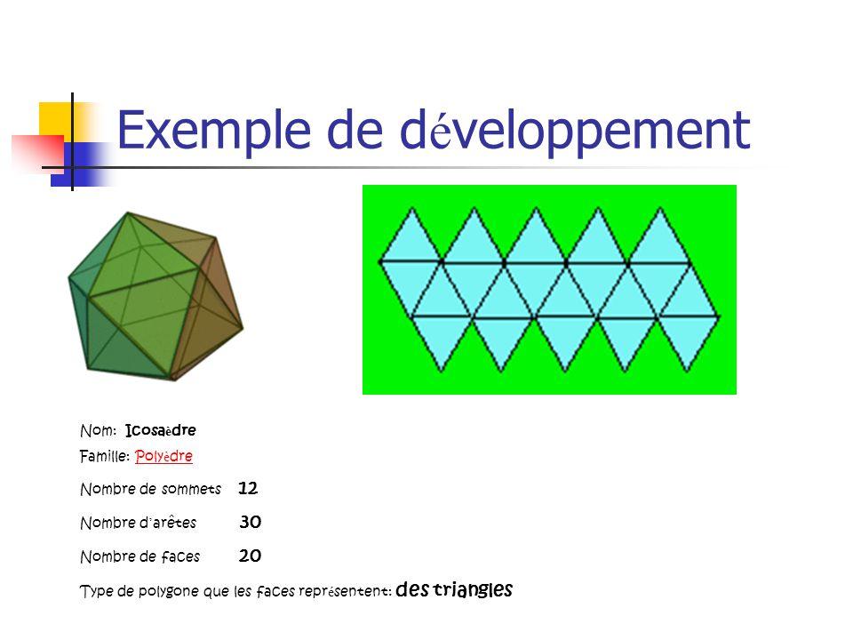 Exemple de développement