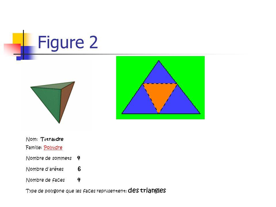Figure 2 Nom: Tétraèdre Famille: Polyèdre Nombre de sommets 4