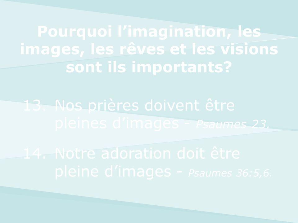 Pourquoi l'imagination, les images, les rêves et les visions sont ils importants