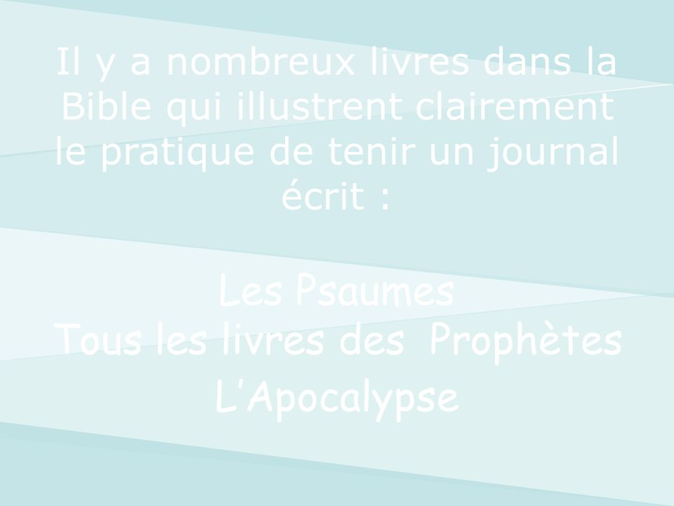 Les Psaumes Tous les livres des Prophètes