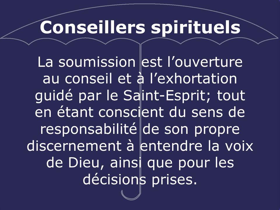 Conseillers spirituels