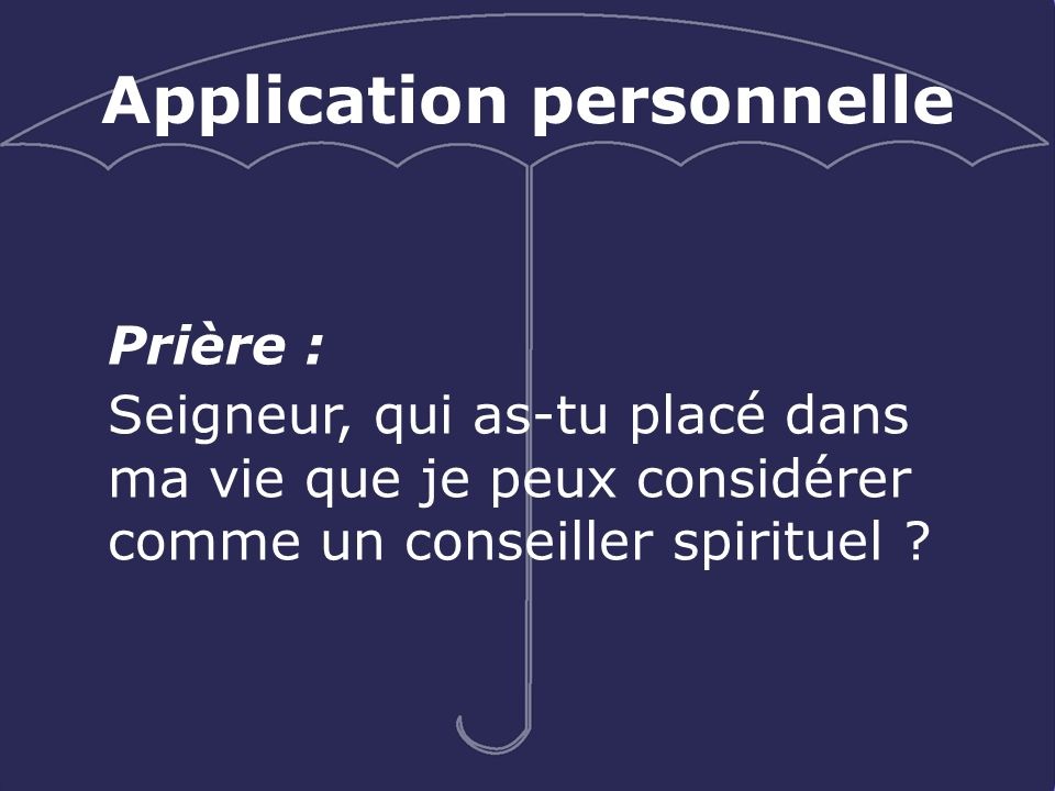 Application personnelle