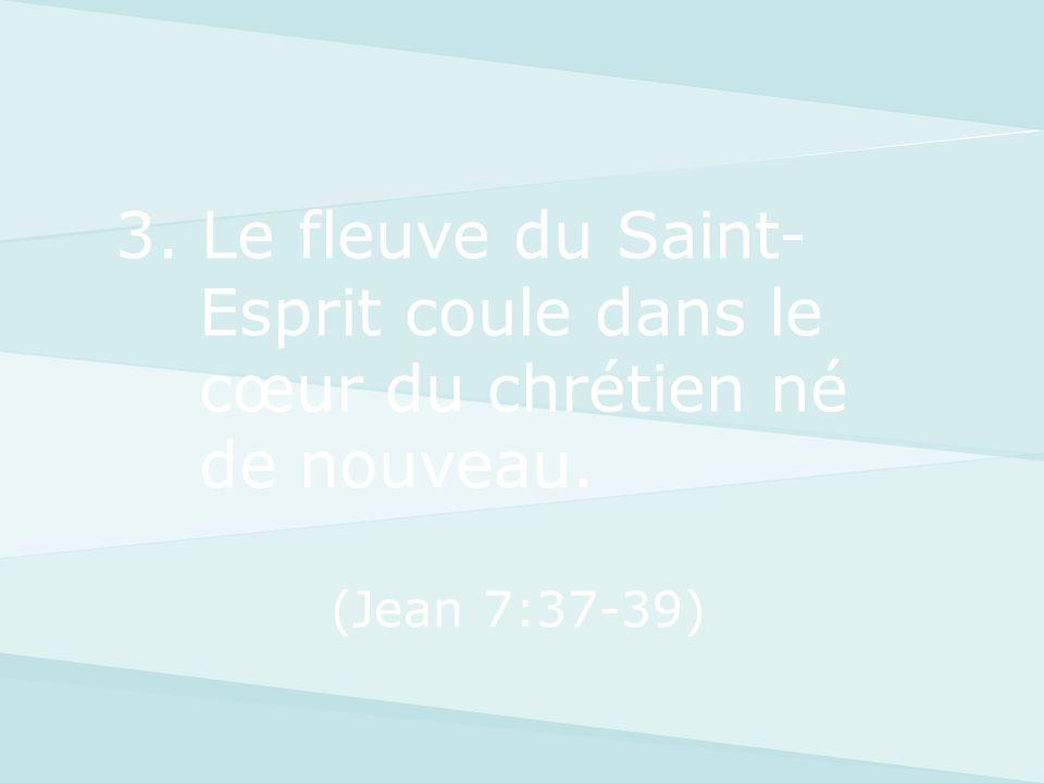 3. Le fleuve du Saint-Esprit coule dans le cœur du chrétien né de nouveau.