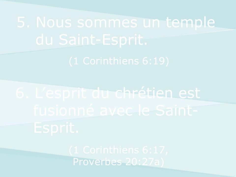 5. Nous sommes un temple du Saint-Esprit.