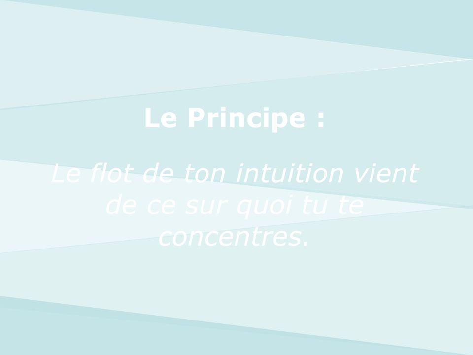 Le flot de ton intuition vient de ce sur quoi tu te concentres.